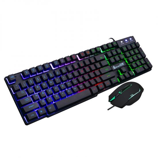 Shipadoo D500 Wired Keyboard,Mouse Set